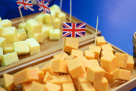 Chinese cube sample with British England Flag Imagens