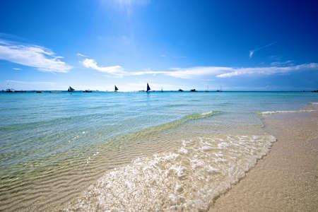 boracay: Beach view in Boracay Island in the Philippines.