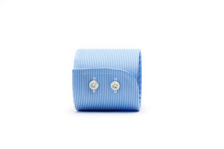 blue shirt sleeve cuff isolated on white background Reklamní fotografie