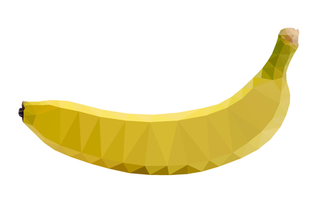 Polygon banana vector illustration on white background