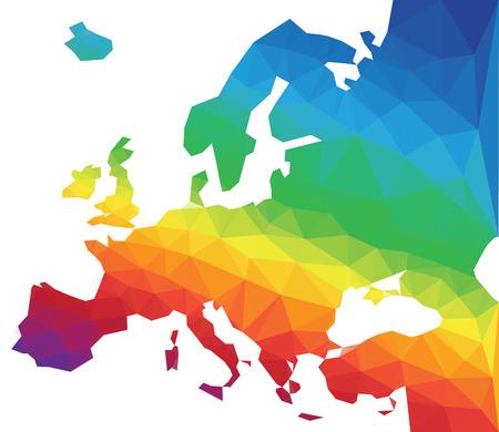 mapa de europa: Ilustración del vector del polígono Mapa de Europa