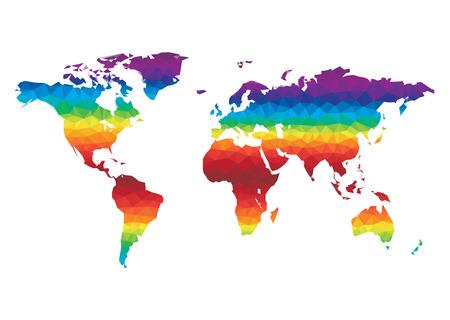 Polygon World Map Vector Illustration
