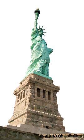 뉴욕의 자유의 여신상 다각형 벡터