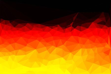 nationalities: Polygon vector illustration map of Germany