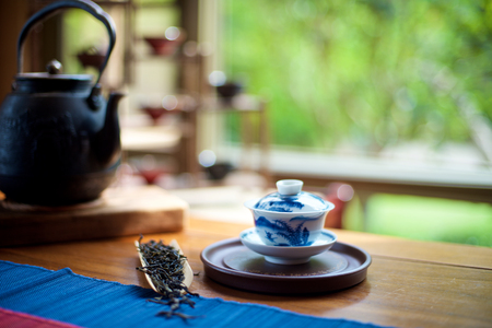 teaset: Chinese Tea Ceremony on the table Stock Photo