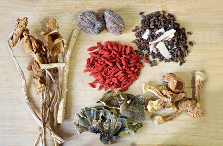 chinese herbal: Chinese herbal soup ingredients, wolfberries, dried dates
