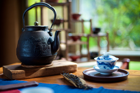 Chinese Tea Ceremony on the table Imagens