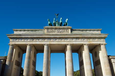 Berlin - OCTOBER 4, 2016: Brandenburger Gate in Berlin Germany