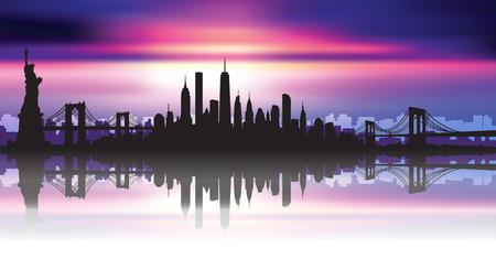 Vector of the New York skyline Illustration