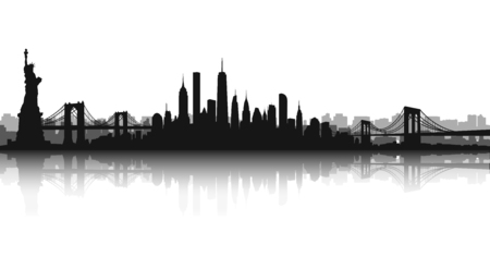 Vector of the New York skyline.