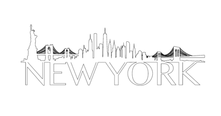 Vector of the New York skyline Иллюстрация