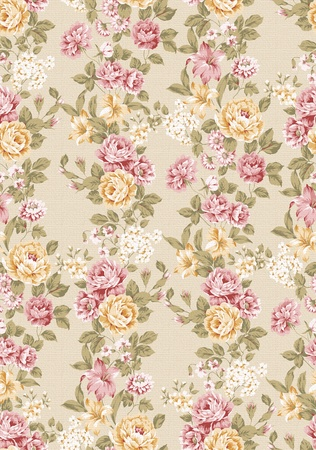 vintage roses: beautiful Rose bouquet design Seamless pattern background