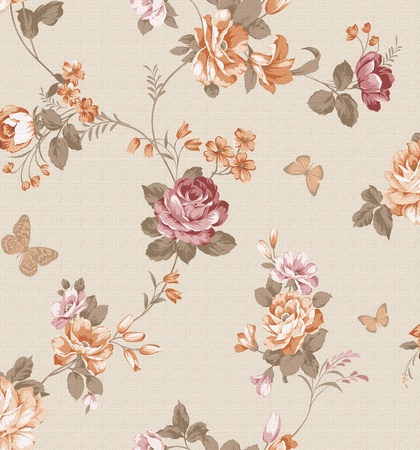 beautiful flower design Seamless pattern background  photo