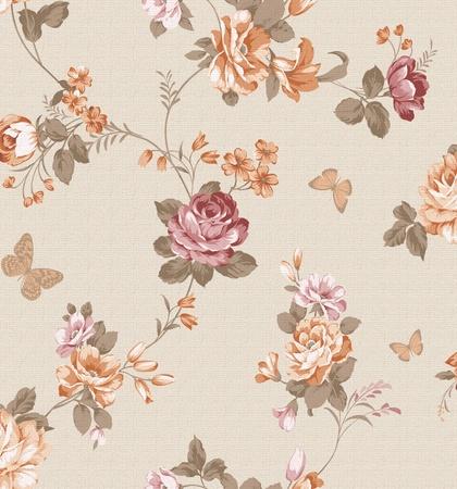 sateen: beautiful flower design Seamless pattern background  Stock Photo