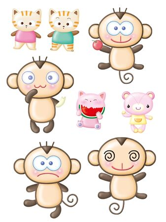 cartoon design elements, Monkey  photo