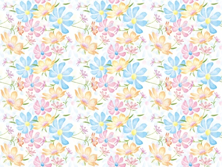 persia: Freehand drawing- Persia chrysanthemum of blooming wrapping seamless pattern