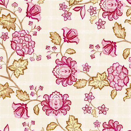 floral ornaments: Seamless floral background.