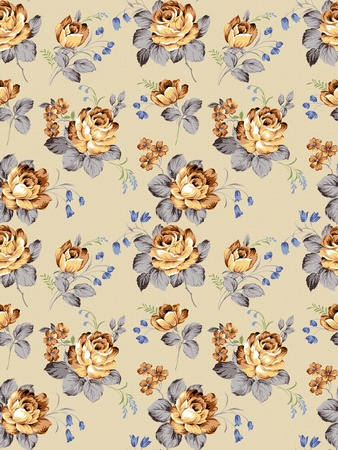 old vintage roses texture pattern Stock Photo - 8899832