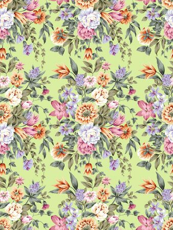 Roses seamless texture background  photo