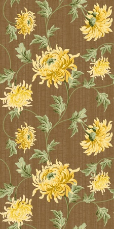seamless floral background-brown  photo