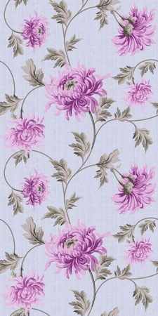 seamless floral background-purple  photo