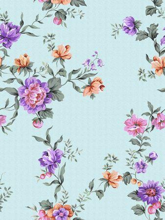 blue damask: floral background , element for blue design pattern