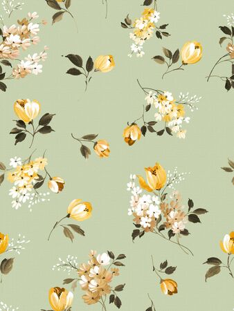 flower print: floral seamless pattern background