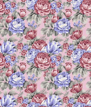 repeat floral pattern  photo