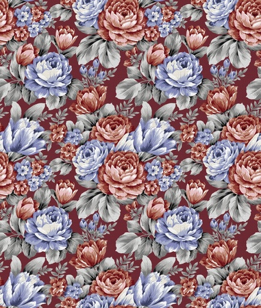 floral tracery: repeat floral pattern