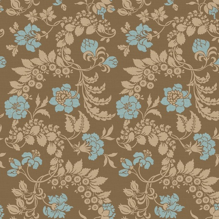 seamless damask:      backdrop, background, beauty, creative, curtains, damask, decor, decoration, decorative, design, drapery, elements, fabric, fantasy, floral, foliage, illustration, old, ornament, ornamental, outline, pattern, plant, renaissa                           Stock Photo