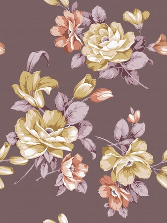 nosegay: seamless floral background  Stock Photo