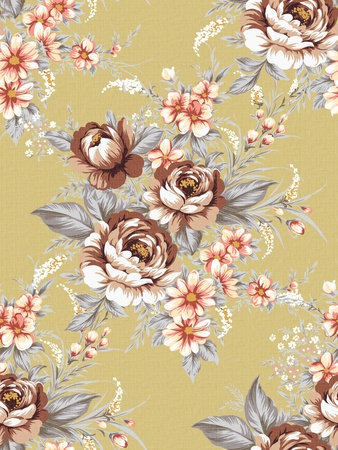 nosegay: Seamless tulip background pattern.  Stock Photo