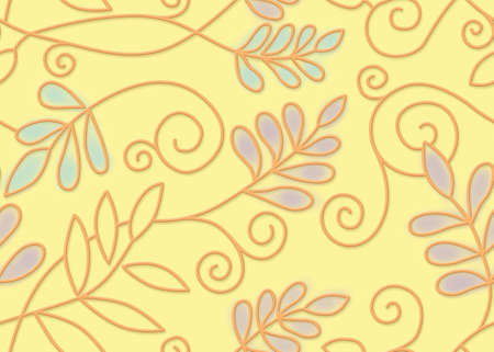Seamless floral background. For easy making seamless pattern use it for filling any contours. Stock Photo - 8893720