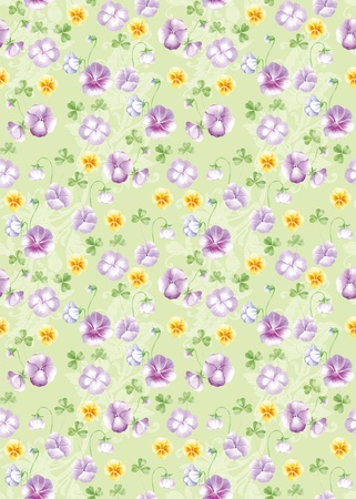 Vivid repeating floral background  photo