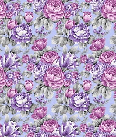 rose seamless pattern background  photo