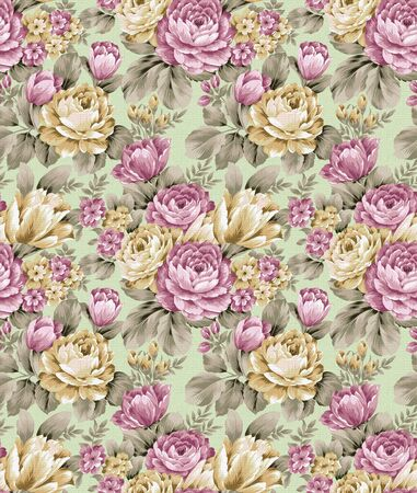 fabric design: repeat floral pattern