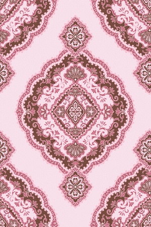 Seamless background from a floral ornament, Fashionable modern wallpaper or textile  photo