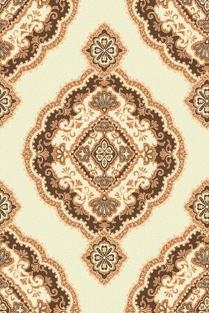 patchwork pattern: Seamless background from a floral ornament, Fashionable modern wallpaper or textile  Stock Photo
