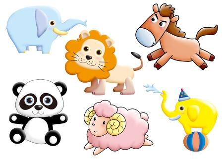 funny monsters cartoon set - animal photo