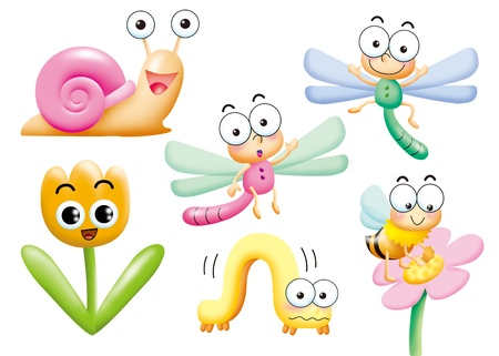 funny monsters cartoon set - insect Stock Photo - 9002960