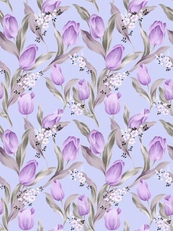 Seamless floral wallpaper background  Stock Photo - 8996278