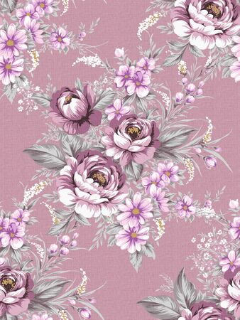 stylishness: Seamless floral pattern design  Stock Photo