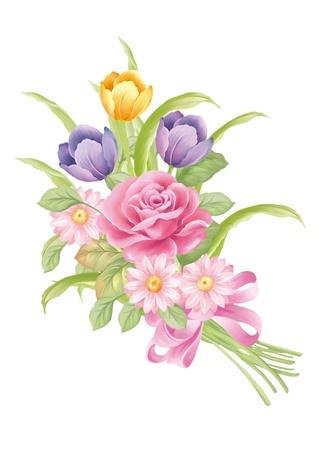 Abbildung mit schönen Tulip Bouquet Dekoration