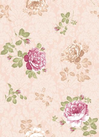 rose bouquet: beautiful Rose bouquet design Seamless pattern background