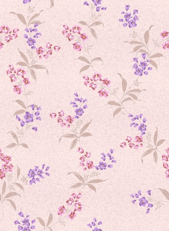 seamless pink floral background design pattern - spring style  photo