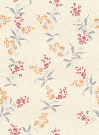 seamless floral background design pattern - spring style  photo