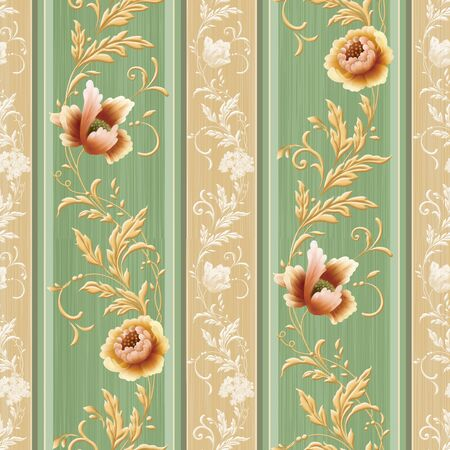 classics: seamless floral background design pattern - classical style