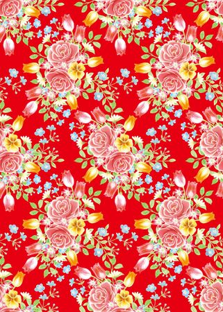 red rose background element design pattern Stock Photo - 9134013