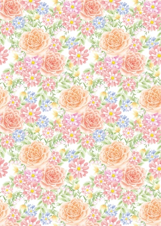 rose background , seamless for spring style design pattern  photo