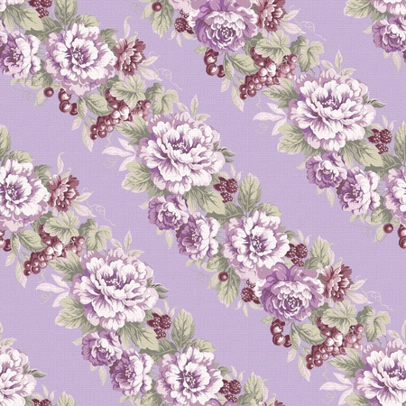 classics: seamless purple rose background design pattern - classical style